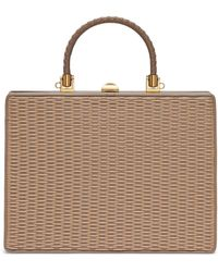 Rodo - Woven Panel Leather Bag - Lyst