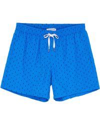Danward - 'capri' Rectangle Embroidered Swim Shorts - Lyst