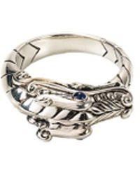 John Hardy - Sapphire Silver Naga Ring - Lyst