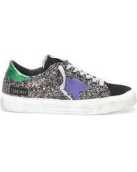 5f4799a042e7 Golden Goose Deluxe Brand -  may  Glitter Coated Leather Sneaker - Lyst