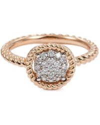 Roberto Coin - 'new Barocco' Diamond 18k Rose Gold Ring - Lyst