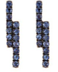 Khai Khai - 'linear' Sapphire 18k Yellow Gold Earrings - Lyst