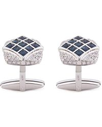 LC COLLECTION - Diamond Alexandrite 18k White Gold Cufflinks - Lyst