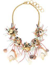 Erickson Beamon - 'enchanted World' Glass Crystal Seashell Bead Bib Necklace - Lyst