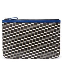 Pierre Hardy | 'perspective Cube' Print Large Pouch | Lyst