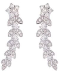 LC COLLECTION - Diamond 18k White Gold Star Ear Climbers - Lyst