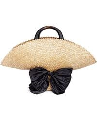 Eugenia Kim - 'flavia' Bow Straw Hat Bag - Lyst