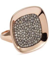 Roberto Coin - 'carnaby Street' Diamond 18k Rose Gold Ring - Lyst