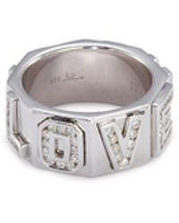 Lynn Ban - 'i Love You' Diamond Silver Ring - Lyst