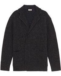 Camoshita - Notched Lapel Wool Blend Cardigan - Lyst