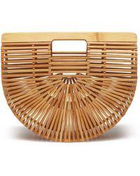 Cult Gaia - 'gaia's Ark' Bamboo Small Caged Saddle Bag - Lyst