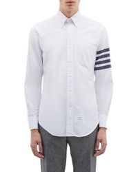 Thom Browne - Stripe Sleeve Shirt - Lyst