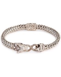 John Hardy - Diamond Topaz Silver Macan Bracelet - Lyst
