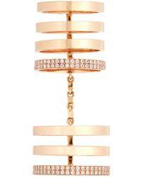 Repossi   'berbère' Diamond 18k Rose Gold Seven Row Linked Ring   Lyst