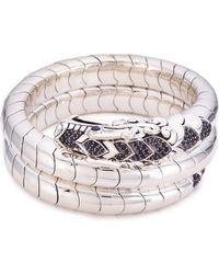 John Hardy - Sapphire Spinel Silver Naga Coil Bangle - Lyst