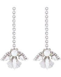 Erickson Beamon - 'knights' Swarovski Crystal Glass Pearl Drop Earrings - Lyst