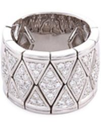 LC COLLECTION - Diamond 18k White Gold Geometric Ring - Lyst