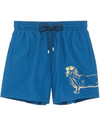 Vilebrequin - 'motu' Sunny Dog Embroidered Swim Shorts - Lyst