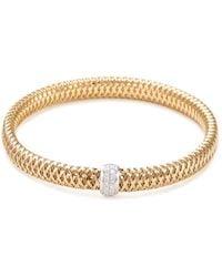 Roberto Coin - 'primavera' Diamond 18k Yellow And White Gold Bracelet - Lyst