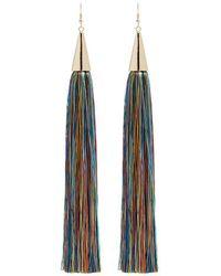 Eddie Borgo - Long Silk Tassel Earrings - Lyst