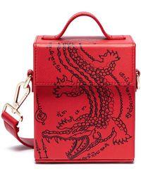 Angel Chen - Crocodile Print Crossbody Box Bag - Lyst
