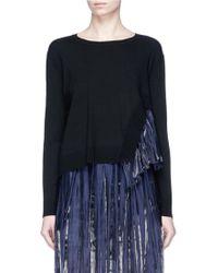 Rhié | 'jane' Contrast Pleated Sweater | Lyst