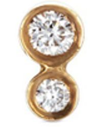 Sophie Bille Brahe - 'lulu Diamant' Diamond 18k Yellow Gold Single Earring - Lyst