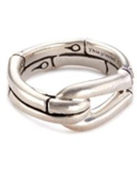 John Hardy - Silver Bamboo Hook Ring - Lyst