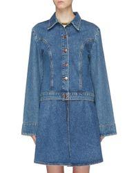 AALTO Bell Sleeve Denim Jacket - Blue