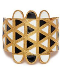 Kenneth Jay Lane - Geometric Pattern Bracelet - Lyst