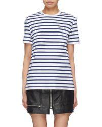 Être Cécile - Glitter Star Print Stripe T-shirt - Lyst
