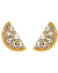 Anton Heunis - Swarovski Crystal Pearl Lemon Slice Earrings - Lyst
