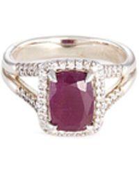 John Hardy - 'magic Cut' Diamond Ruby Silver Ring - Lyst