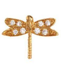 Loquet London - Diamond 18k Yellow Gold 'dragonfly' Charm – Strength - Lyst
