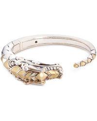 John Hardy - Sapphire 18k Yellow Gold Silver Naga Cuff - Lyst