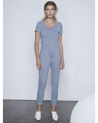 b26ae5be708 Lyst - Lanston Surplice Jumpsuit in Gray