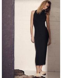 Lanston - Turtleneck Slit Dress - Lyst