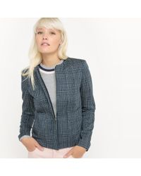 La Redoute - Zip-up Checked Jacket - Lyst