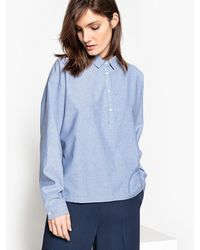 La Redoute - Batwing Sleeve Cotton Blouse - Lyst