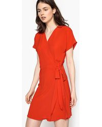 Best Mountain - Short-sleeved Straight Short Dress - Lyst