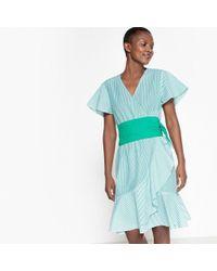 La Redoute - Striped Ruffled Dress - Lyst