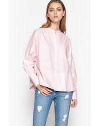 LA REDOUTE | Cotton Mandarin Collar Shirt | Lyst