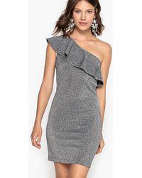 La Redoute - One-shoulder Metallic Dress - Lyst