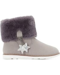LA REDOUTE | Fur-lined Boots With Star Detail, 28-34 | Lyst