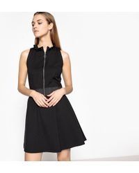 LA REDOUTE | Zip-up Sleeveless A-line Dress With Stylish Collar | Lyst