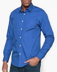 La Redoute - Slim Fit Polka Dot Print Shirt - Lyst