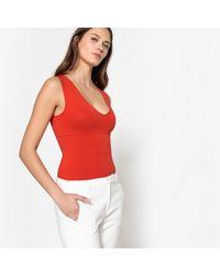 LA REDOUTE   V-neck Bodysuit   Lyst