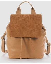 La Redoute - Embossed Leather Backpack - Lyst