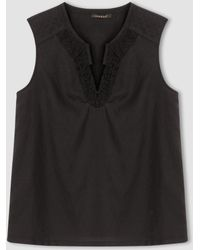 Color Block - Shell Top With Padded Shoulder Detail - Lyst