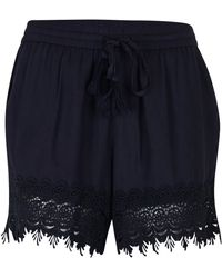 B.Young - Plain Lace Shorts With Elasticated Waist - Lyst